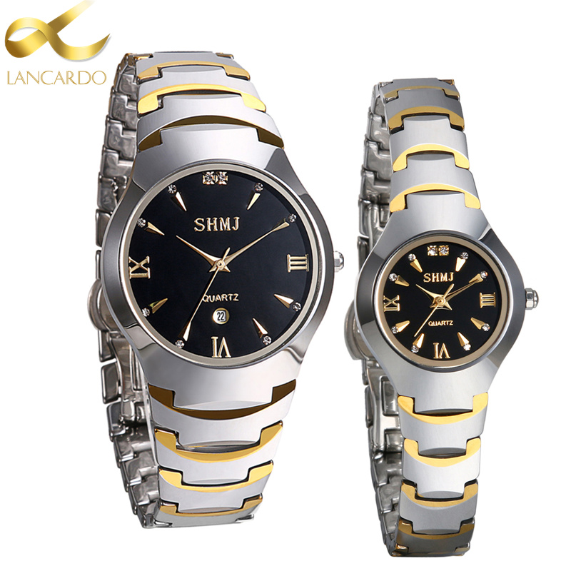 Tungsten Steel Wrist Watch Luxury Top Brand Lancardo Men's Watch Lovers' Business Quartz Watch Fashion Casual Sliver Women Watch bosck women s watch top brand business relogio masculino japan movment tungsten steel man watch dress casual quartz wrist watch