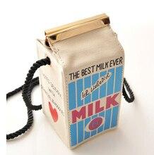 Lait boîte de Messager sacs Bande Dessinée sac touches d'un téléphone cellulaire poche beau sac à main
