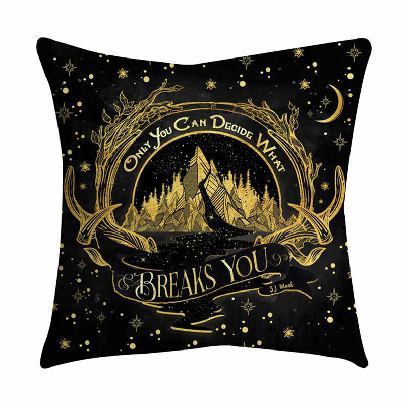 Bronzing Cushion Cover Gold Printed Black and White Pillow Cover Decorative Pillow Case Sofa Golden Pillowcase Home Decor@40