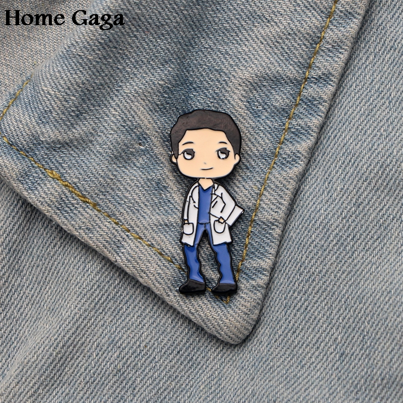 Homegaga Grey 39 s Anatomy doctors Zinc pins para backpack pride clothes for bag shirt hat insignia badges brooches men women D1806 in Badges from Home amp Garden