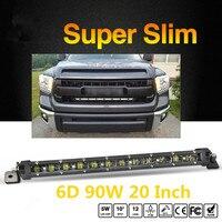 COLIGHT 20 90W 6D Led Light Bar Single Row Slim 6000K Combo Beam Auto LED Work