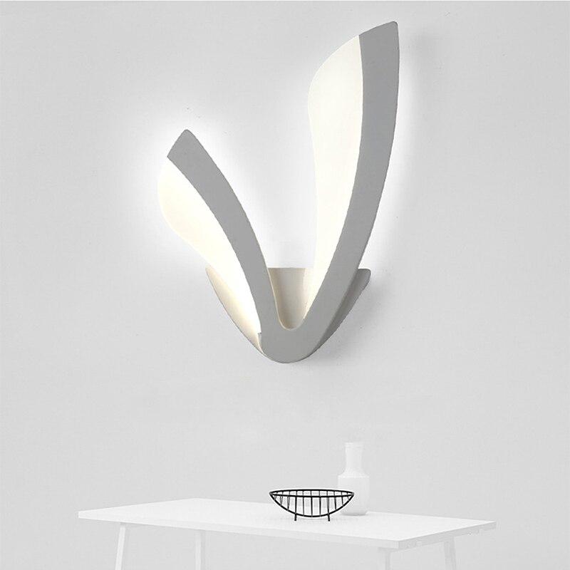 Creative Led Modern Sconce Wall Lights Lamp Acrylic Wand lamp Bedroom Bathroom Applique Murale Luminaire Mirror Lights Fixtures