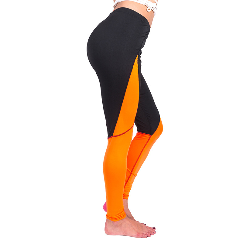Fitness Leggings Material: High Waist Women Leggings For Fitness Patchwork Fabric
