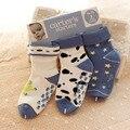 2016 Autumn Winter 3 Pairs New Born Baby Girl&Boys Warm Terry Ankle Socks Infants Anti-skid Socks 0-2 Years