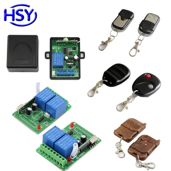 Wireless Remote Control Switch DC 12V 1 or 2 CH Relay Transmitter Receiver Module Exit Button for Access Control or Light Switch image