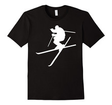 Graphic T Shirts Awesome Tees Jumping Skier Crew Neck Short For Men
