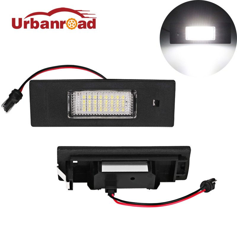 Urbanroad 2Pcs White 6000k Led License Plate Light For BMW E63 24smd Led Number License Plate Light Lamp For BMW E63 E81 E87 F06 2pcs white led license plate light lamps for nissan 350z 370z gtr infiniti g37 g35