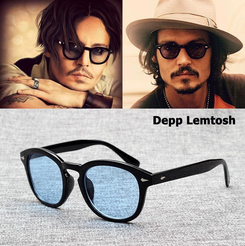 Johnny Depp Lemtosh JackJad 2018 Moda Estilo Óculos De Sol Do Vintage Rodada Lente Tonalidade Oceano de Design Da Marca Óculos de Sol Oculos de sol