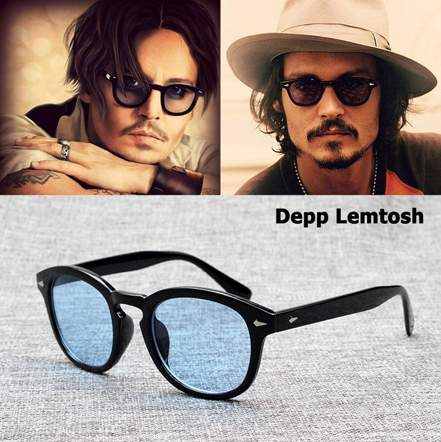 f6ea7613d65 JackJad 2018 Fashion Johnny Depp Lemtosh Style Sunglasses Vintage Round  Tint Ocean Lens Brand Design Sun