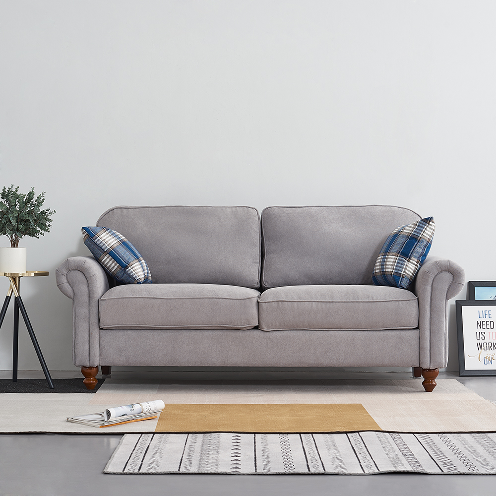 Panana confortable canapé 2 places en tissu avec 2 oreillers canapé salon canapé salon meubles de salon