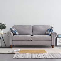 Panana Comfortable 2 Seater Fabric Sofa with 2 Pillows Couch Lounge Sofa Livingroom Furnitures