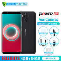Ulefone Power 3S 6.0 18:9 FHD+ Mobile Phone MTK6763 Octa Core Android 8.1 4GB+64GB 16MP 4 Camera 6350mAh Face ID 4G Smartphone