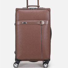 BOLO BRAVE Men Pu Leather Luggage Vintage Rolling Suitcase Trolley 20″24 Spinner Travel Baggage Carry-Ons Valise Business Bags