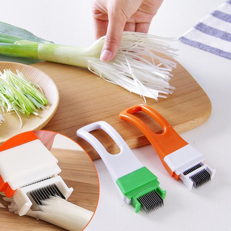 1 шт лук овощерезка многофункциональный измельчитель лука кухонный нож, инструменты для измельчения ломтик столовые приборы Пособия по кул...