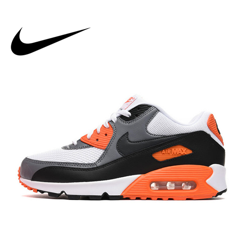 promo code fa296 35559 Original Authentic NIKE Men s AIR MAX 90 ESSENTIAL Breathable Running Shoes  Sneakers Outdoor Sports Tennis Designer