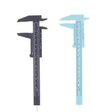 6 Polegada 150mm régua de plástico deslizante calibre vernier caliper jóias medição