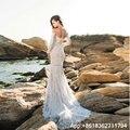 2017 See Through Back Wedding Dresses Mermaid Sweetheart Long Sleeve Lace Applique Vestidos De Novia robe de mariage casamento