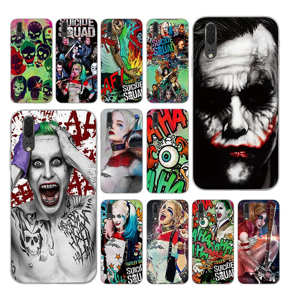 Harley Quinn Suicide Squad Joker <font><b>Marvel</b></font> DC Comic Phone Case for <font><b>Huawei</b></font> P30 P20 <font><b>P10</b></font> Mate 10 20 Pro <font><b>Lite</b></font> <font><b>Cover</b></font> image