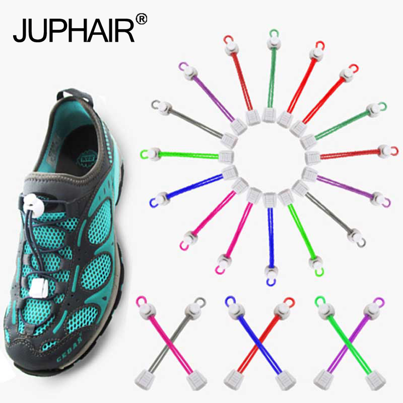 JUP 1 Pair Free Shipping White Lock Any Shoelaces Shoestrings Elastic Running Shoes Jogging Triathlon Sports Fitness Shoes Laces
