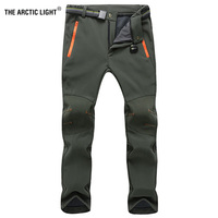 Womens Mens Waterproof Outdoor Softshell Pants Radiation Protection Quick Dry Hunting Climbing Camping Fishing Polar Fleece