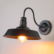 все цены на Vintage E27 edison light retro loft wall lamp bedside porch corridor balcony aisle restaruant pub club bar cafe light bra sconce онлайн