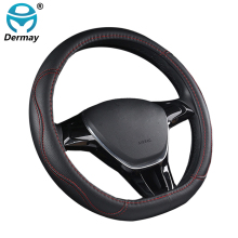 DERMAY Car Steering Wheel Cover D Type for Citroen C3-XR C4