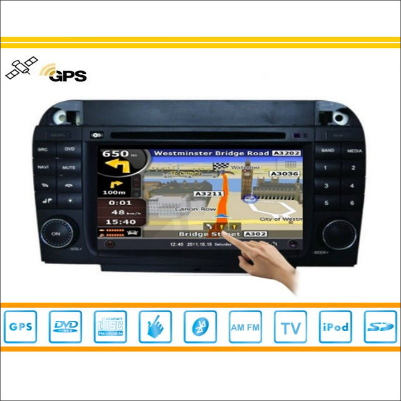Car radio for mercedes benz s class w220 1995 2005 audio for Mercedes benz navigation cd
