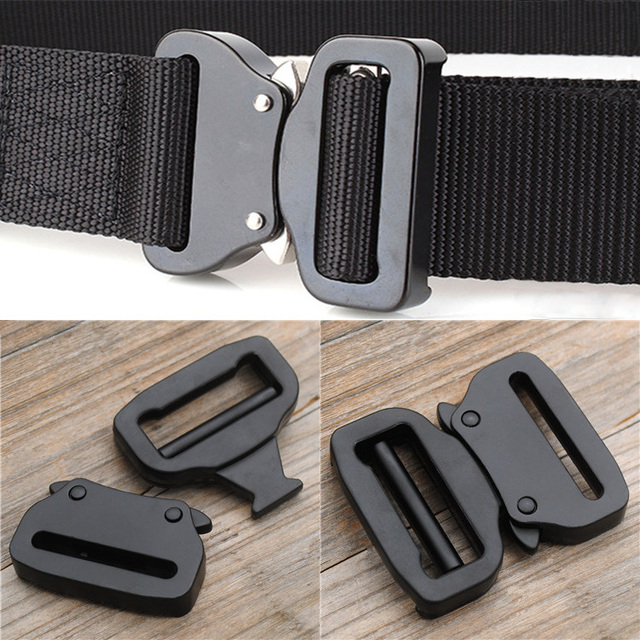 f8bff8b1ea774 Adjustable Tactical Belt Buckles-Quick Side Release Metal Strap Cobra Buckle  For 38mm Webbing DIY