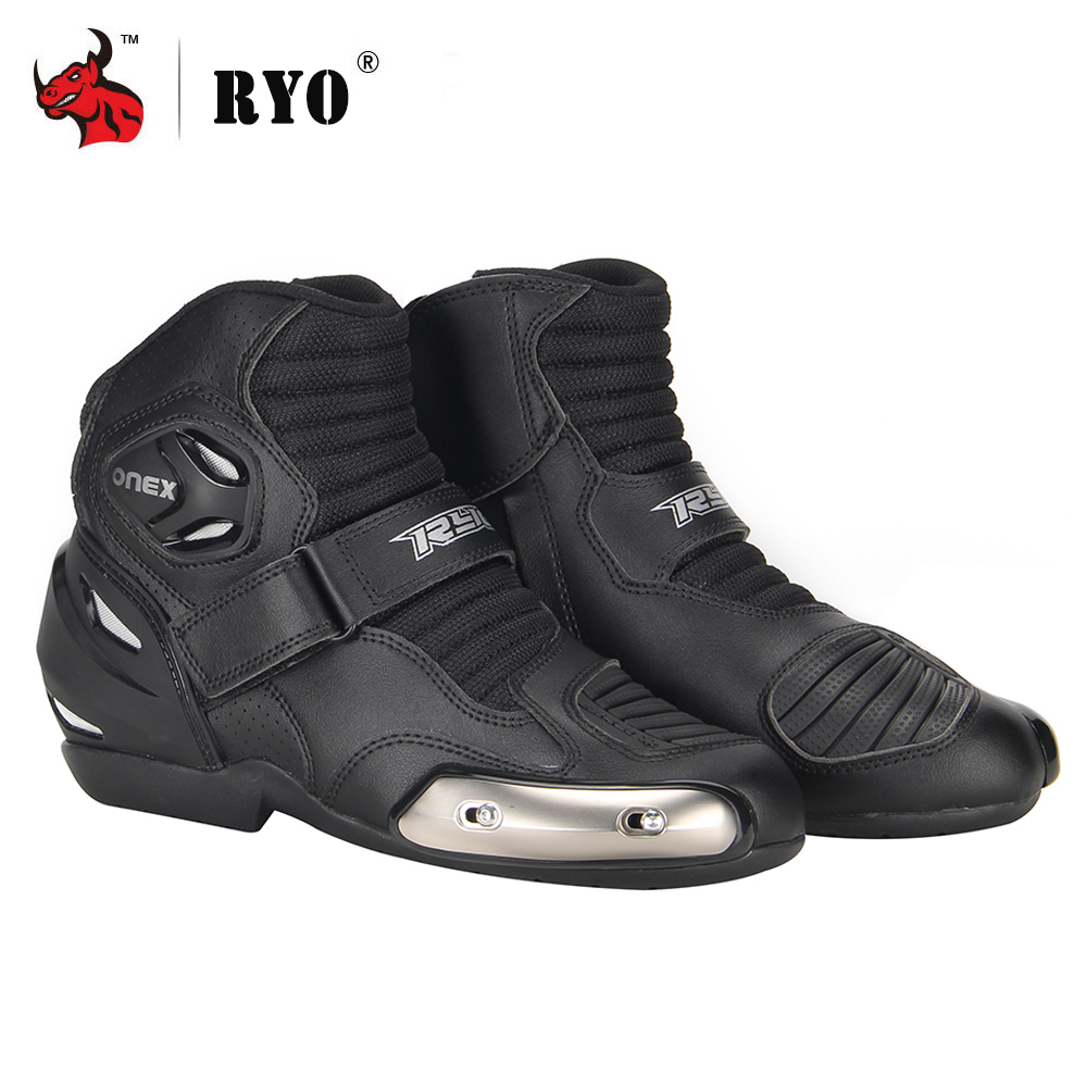 ORIGINAL Motorcycle Boots Racing Motocross Off-Road Motorbike Men Leather Shoes