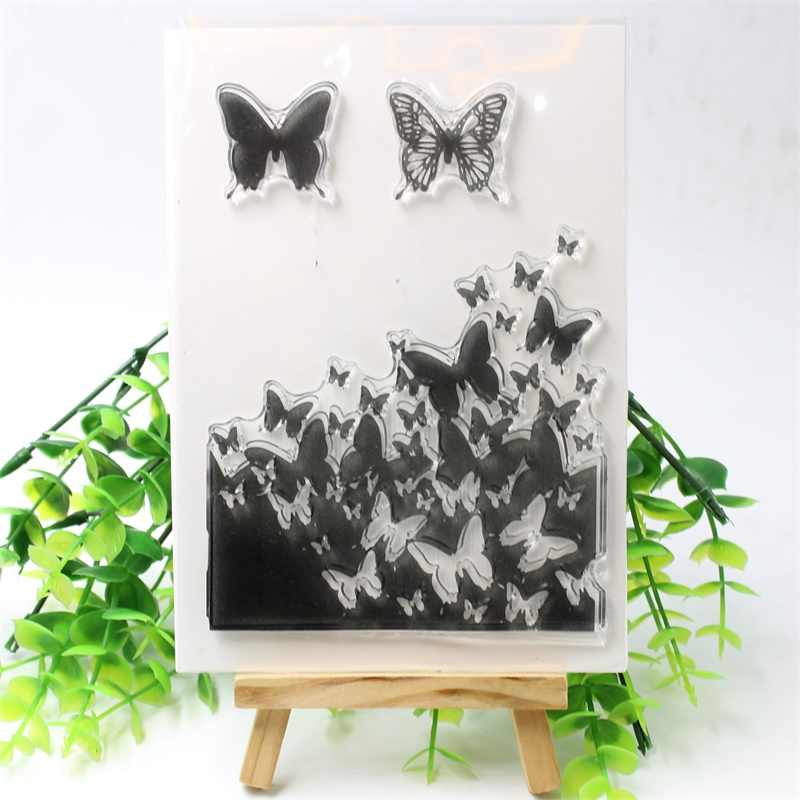 Бабочки прозрачный чистый силикон штампы для DIY Скрапбукинг/изготовление