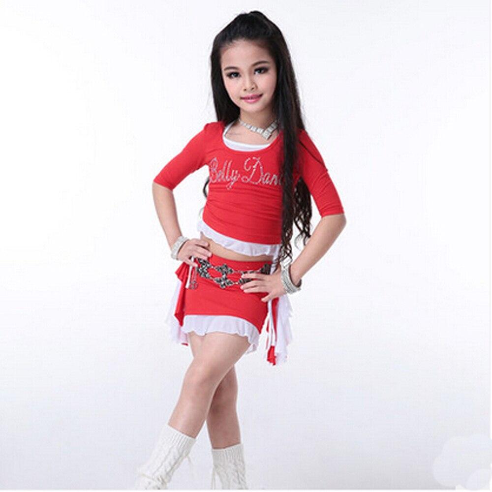 Nouveauté 3 pièces/ensemble enfants enfants bellydance ensemble robes sexy indien Bollywood enfants fille danse pratique vêtements Costumes