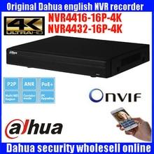 Originl Dahua 16POE 4K NVR4416-16P-4K DH-NVR4416-16P-4K H.265 Support 4 SATA HDD up to 24TB NVR4416-16P-4KS2 DH-NVR4416-16P-4ks2
