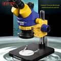 Механический промышленный класс Тринокулярный стереоскопический микроскоп непрерывный зум 0.7x-4.5x для iphone мобильный телефон ремонт лучшее ...