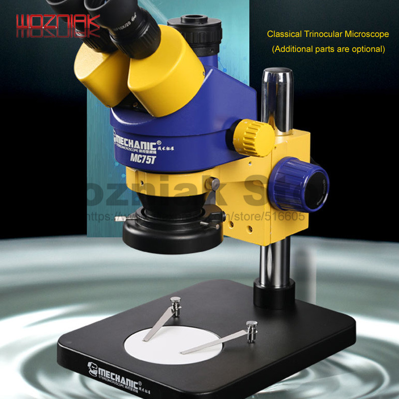 MECHANIC Industrial Grade Trinocular Stereoscopic Microscope Continuous Zoom 0.7x-4.5x For Iphone Cellphone Repairs Best Quality