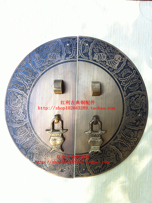 ФОТО The bonus of classical Chinese antique copper copper fittings accessories copper copper door handle /18CM furniture of Ming and