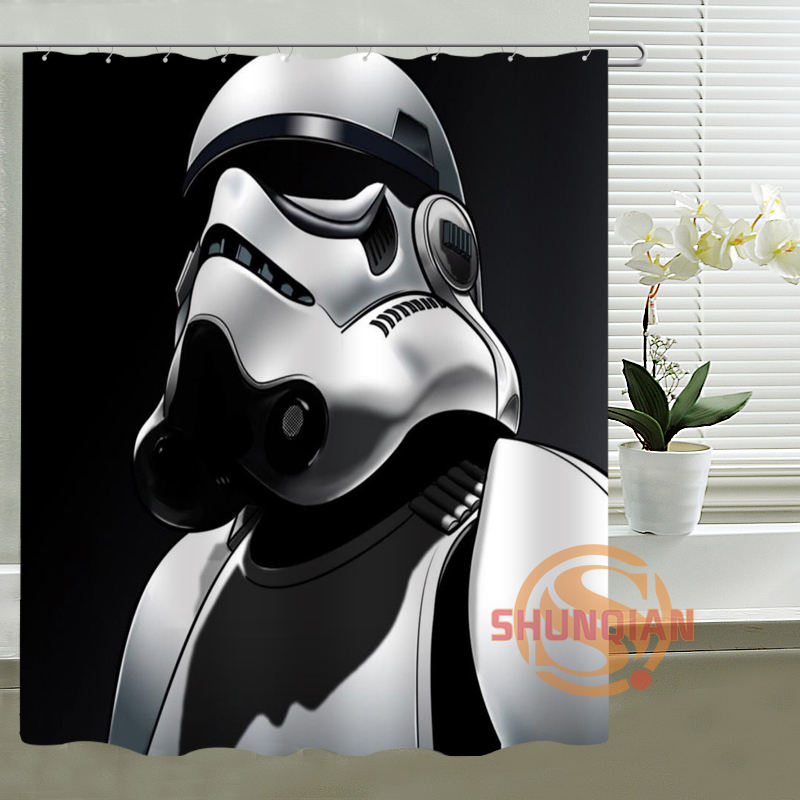 New Hot Custom Star Wars Shower Curtain Bathroom decor waterproof curtains polyester fabric