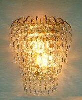 크리스탈 벽 빛 퀸 크라운 황금 크리스탈 k9 sconce 벽 램프 sconce 조명