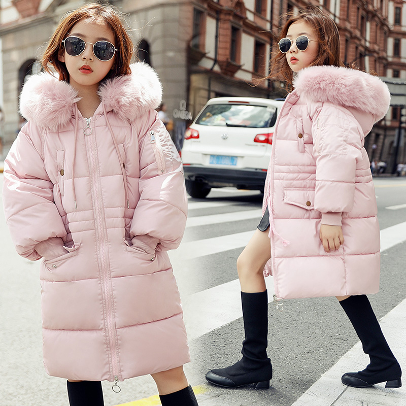 2018 New Fashion Baby Girls Jackets New Hooded Kids Cotton Coat Toddler Fur Collar Winter Jacket Children Jacket Parka Snowsuit yffushi 2017 new fashion winter jacket men black parka jackets men stand collar winter coat slim fit plus size 5xl
