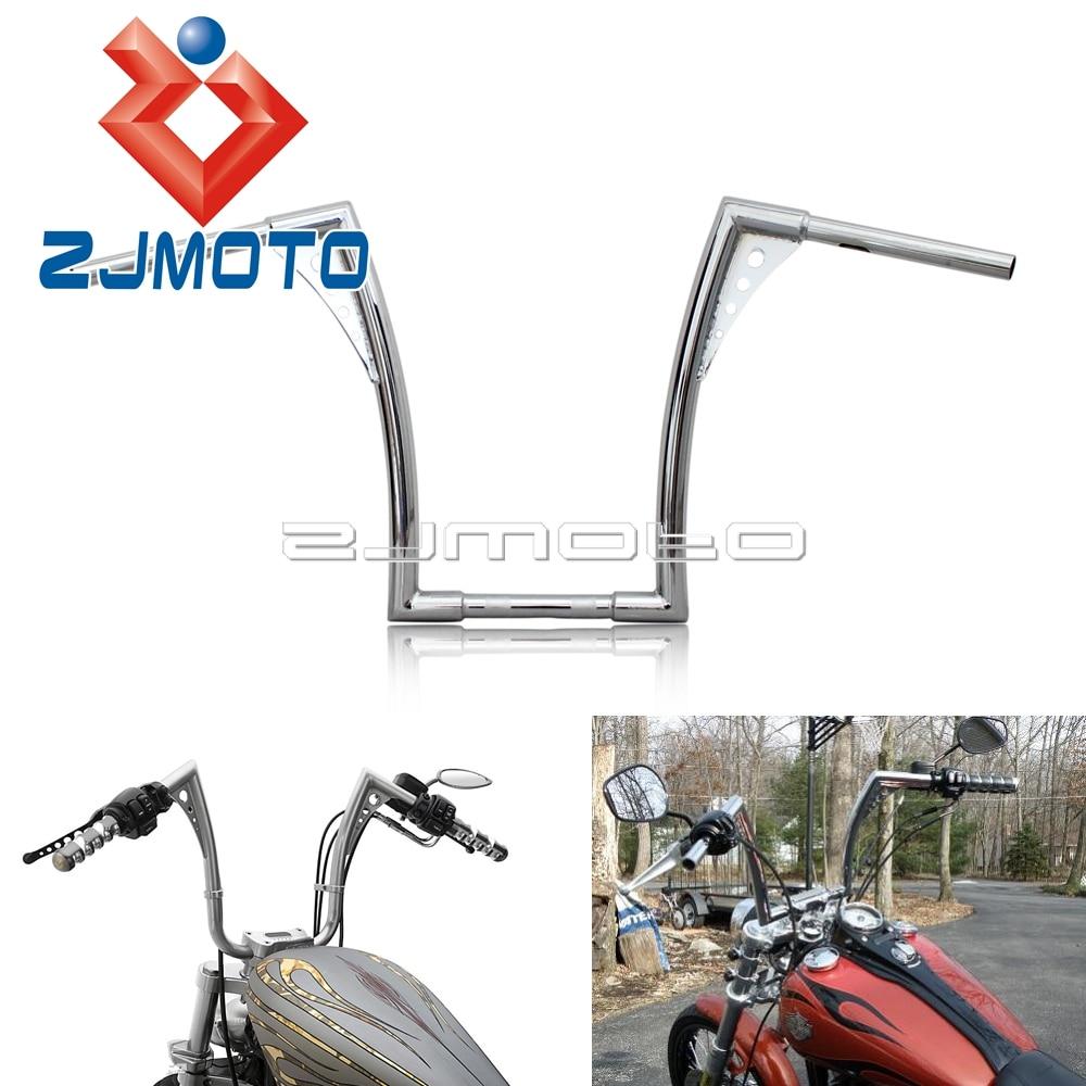 Custom Chrome 16 Rise Handlebar Ape Hangers Fat 1 1 4 Bars Rise Handlebars For Harley