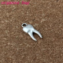 Teeth Pendant 200Pcs/lot Hot sell Antique Silver alloy Jewelry DIY 8x20mm A-197