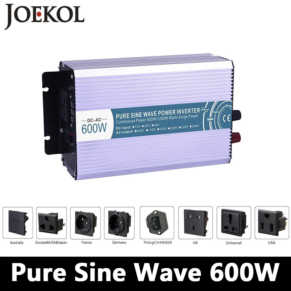 цена на 600W pure sine wave inverter,DC 12V/24V/48V to AC 110V/220V,off grid inversor,solar inverter,voltage converter for home use