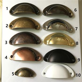 Retro metalowa szuflada kuchenna uchwyt drzwiczek szafki gałki meblowe szafka na sprzęt antyczne żelazna obudowa pochwyty 2 sztuk tanie i dobre opinie Meble uchwyt i pokrętła 65mm and 40mm Archiwalne iron Maszyny do obróbki drewna 50mm 83mm