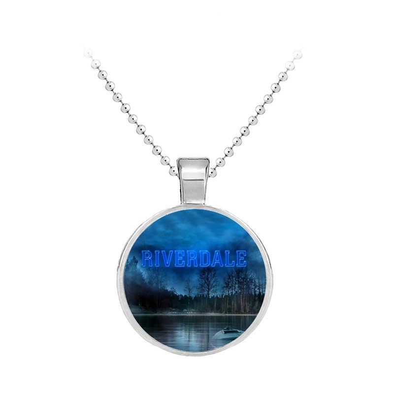 Film naszyjnik Riverdale tajemnice z Riverdale wisiorek – biżuteria szklany naszyjnik urok wisiorek mężczyźni kobiety moda biżuteria