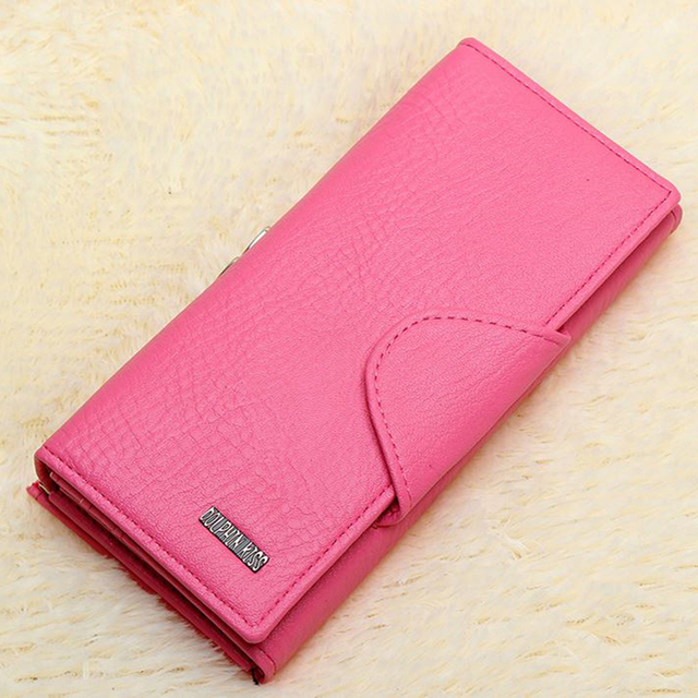 New Casual Women Leather Wallet Brand High Quality Pu Leather Lady Clutch bags Metal Opens Long Card Holder Coin Purse Monederos