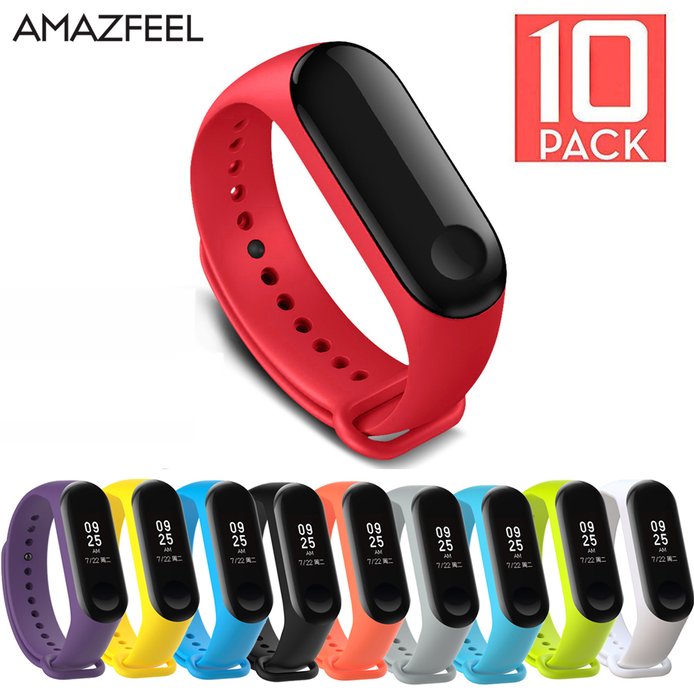 10Pcs/Pack For Mi Band 3 4 Bracelet Strap For MiBand 3 4 Wrist Strap Silicone Straps Wristband Miband 4 Bracelet Accessories