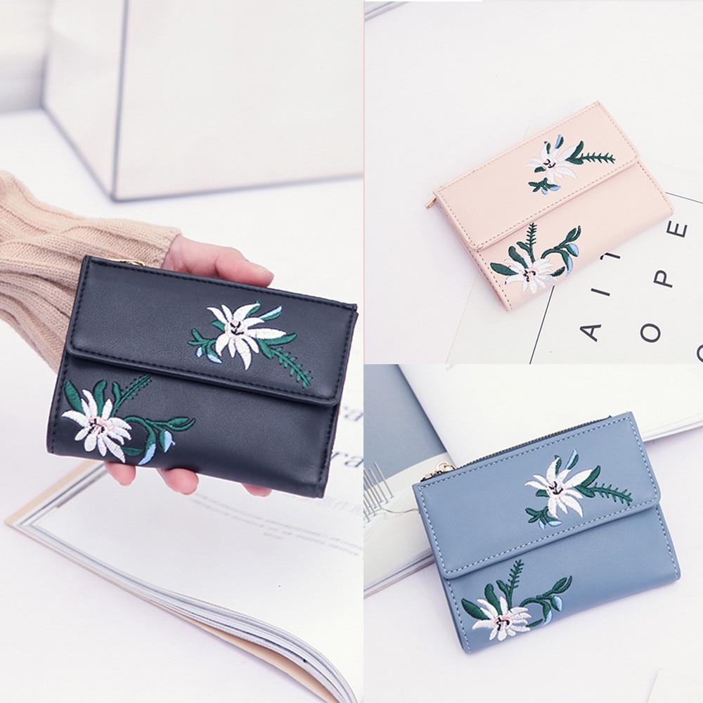 2018 Superior Quality Women Embroidery Floral Clutches Wallet Handbag Cardbag Tote Ladies Purse birthday present X# dropship