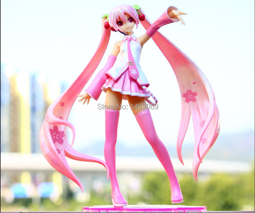 Anime Hatsune Miku Sakura Miku PVC Action Figure Collectible Model Toy Doll 16CM