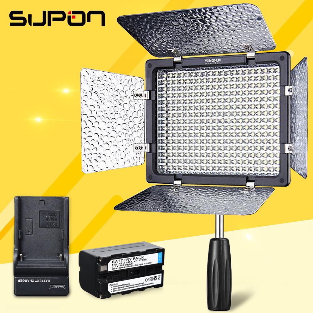 Prix pour Yongnuo yn300 iii yn-300iii 5500 k led caméra vidéo lumière pour peut nik olym + 1 * np-f750 batterie