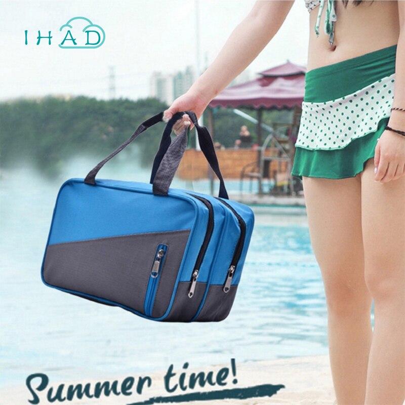 Водонепроницаемый сумка для хранения путешествия купальник сумка спортивная сумка для плавания посылка Организатор сухой и влажной разде...