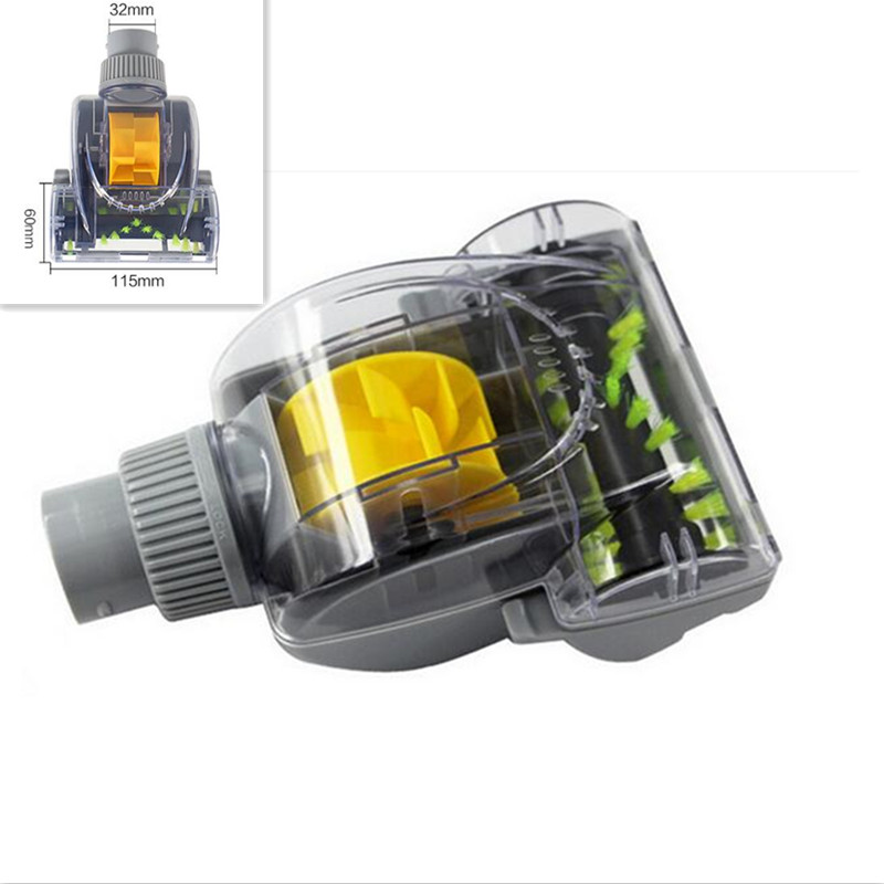 Vacuum Cleaner Remove Mites Wind Brush Turbo Brush Inner Diameter 32mm Length 115mm Width 55mm 32mm 35mm diameter vacuum cleaner accessaries plastic turbo floor brush wind transparent cap